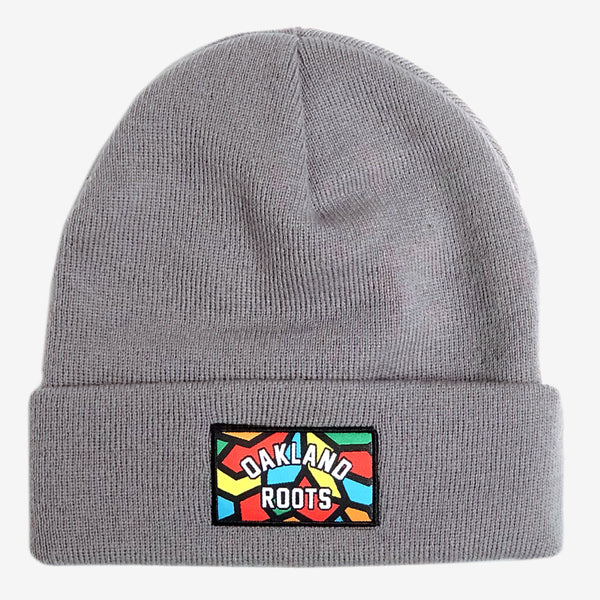 Beanie - Roots SC, Grey Woven Acrylic & Cuffed