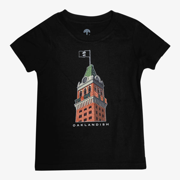 Women's Tee - Be True Oakland Tribune Building, Black Cotton
