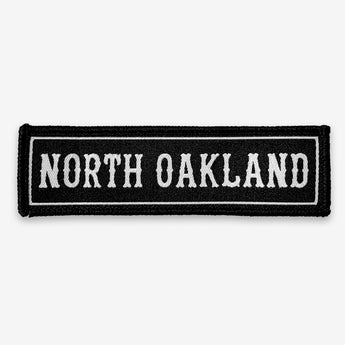 North Oakland Iron-On Patch - Black & White