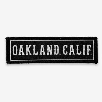 Iron On Patch - Oakland CA, Black & White Textile