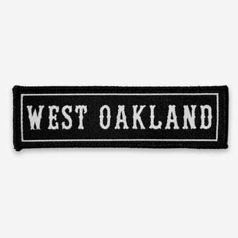 West Oakland Iron-On Patch - Black & White