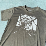 T-Shirt - Featuring Oakland Bridge, Army Brown