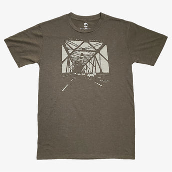 Tee - Featuring Oakland Bridge, Army Brown, Classic Cut