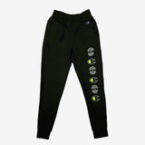joggers - champion x oaklandish - black flourescent yellow -cotton