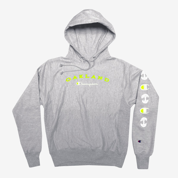 champion X oaklandish pullover hoodie heather grey