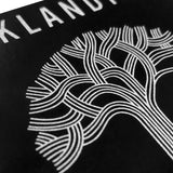 oaklandish roots logo sticker - black and silver