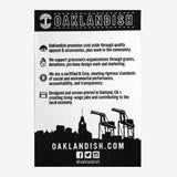 Sticker - Oaklandish Roots Logo, Black and Silver