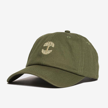 Dad Hat - Micro Oaklandish Logo, Olive Green, Cotton, Strap Back