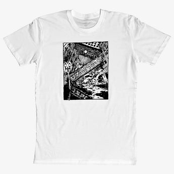 Tee - Dystopioakland Oakland, White Cotton Classic Fit