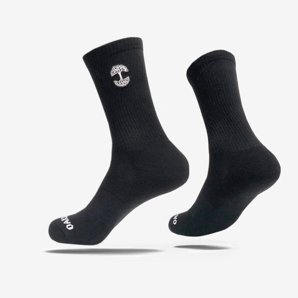 Men's Crew Socks - Oaklandish Logo Black