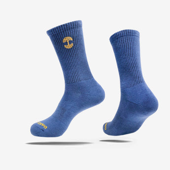 Men's Crew Socks - Embroidered Oaklandish Logo, Blue
