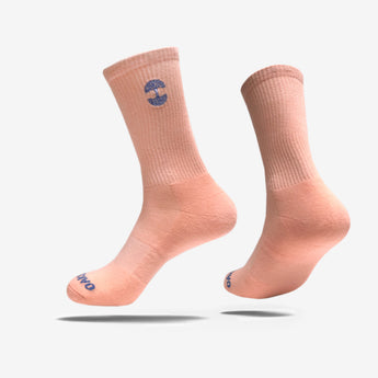 Men's Crew Socks - Embroidered Oaklandish Logo Pink