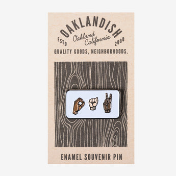 Enamel Pin - American Sign Language