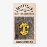 Lapel Pin - Oaklandish Tree Logo, Yellow & Black