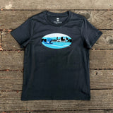 Willie the Whale Fairyland Tee - Petrol Blue Cotton