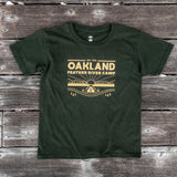 t-shirt-oakland feather river camp-oaklandish-forest green- cotton-youth