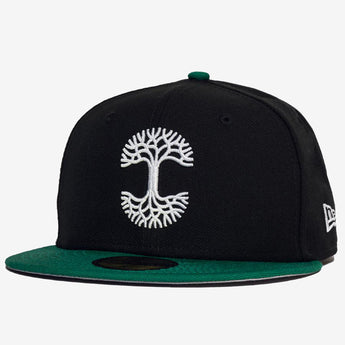 New Era Cap - 59FIFTY, Fitted, Oaklandish Logo, Black & Green