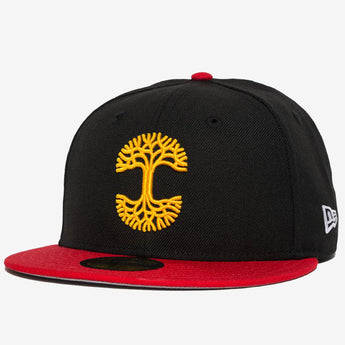 New Era Cap - 59FIFTY, Fitted, Oaklandish Logo, Black & Red