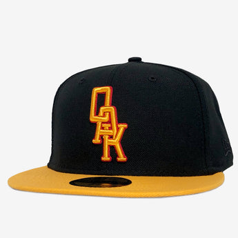 New Era Cap - 59FIFTY, Fitted, Embroidered OAK Logo, Yellow & Black