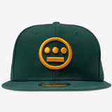 Cap - Fitted New Era 59fifty, Hiero Logo, Green & Gold
