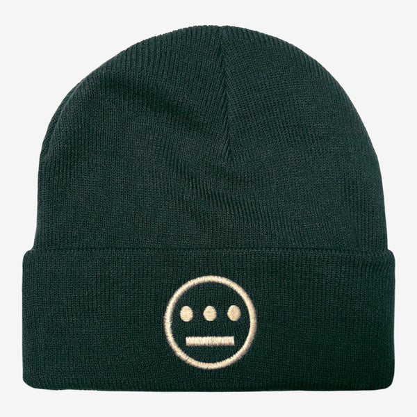 Beanie - Embroidered Hiero Crew Logo, Green Acrylic & Cuffed