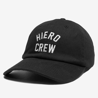 Dad Hat - Hiero Crew Logo, Black Cotton, Strapback