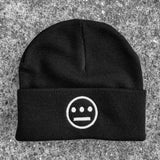 Beanie - Embroidered Hiero Logo, Woven Black Acrylic, Cuffed