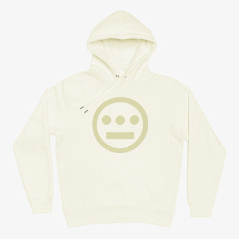 Hoodie - Hiero Classic Logo,  Heavyweight Fleece, Bone White