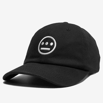 Dad Hat - Hiero Crew Logo, 100% Cotton, Black, Strapback