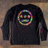 Long Sleeve Tee - Hiero Worldwide Logo Black Cotton
