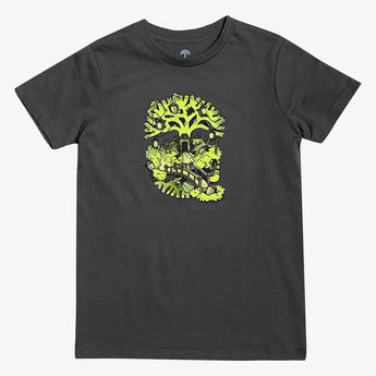 Youth T-Shirt - Oakland Daytime Treehouse, Cotton Charcoal