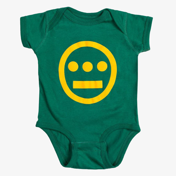 Infant One Piece -  Hieroglyphics Logo Green & Yellow
