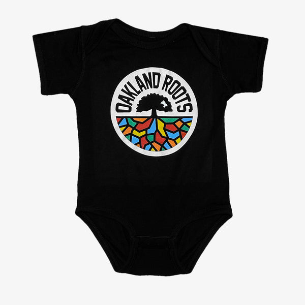 Infant One Piece - Roots SC Logo, Black Cotton