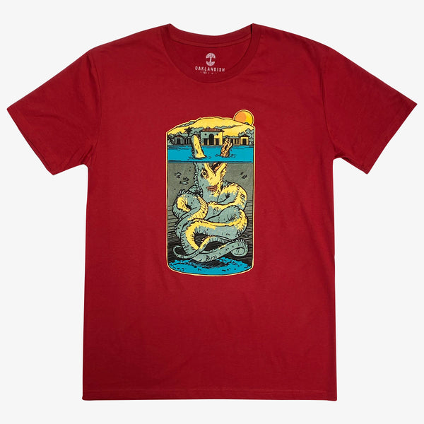 Tee - Lake Merritt Monster, Cardinal Red Cotton, Classic Fit
