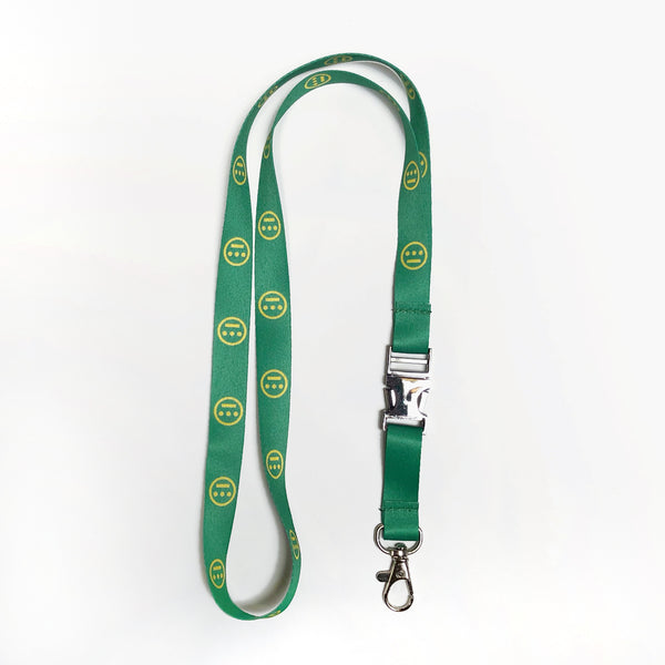 Lanyard Keychain - Hiero Crew Logo, Quick Release, Green