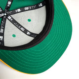 Cap - New Era 59Fifty, Embroidered Oakland As O Logo, Green