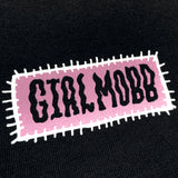 Long-Sleeve Tee - Girl Mobb Gurl 22 Halo, Black Cotton