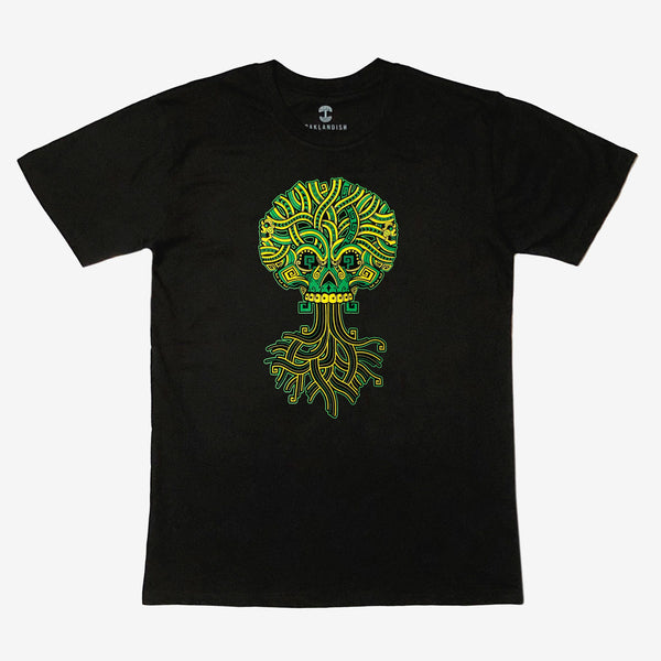Ancient Roots Urban Aztec Tee - Black Cotton