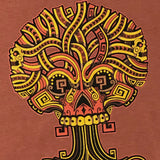 Ancient Roots Urban Aztec Tee | Copper Red Cotton