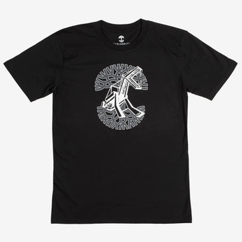 custom t-shirt - beast oakland crane monster - black cotton - oaklandish