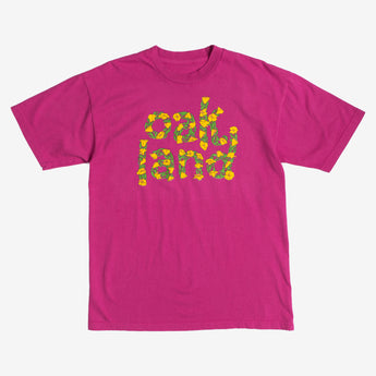 custom t-shirt - blooming ss - berry pink cotton - oaklandish