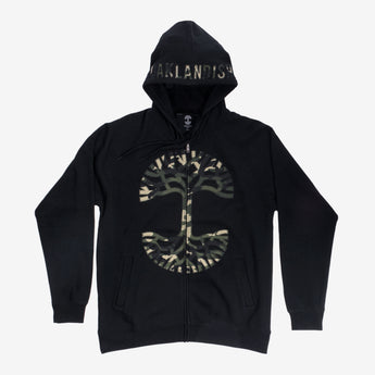 oaklandish logo pullover hoodie black and camo