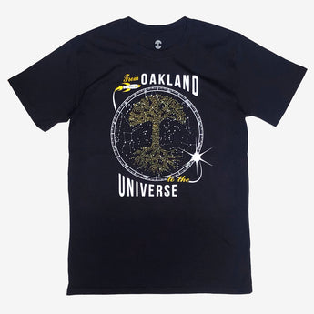 Glow In Dark Universe Tee Chabot Space Center | Black Cotton