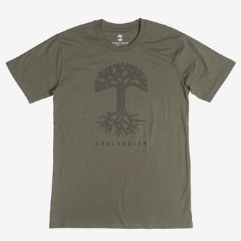 T-Shirt - Oaklandish Classic Logo, Cotton, Army