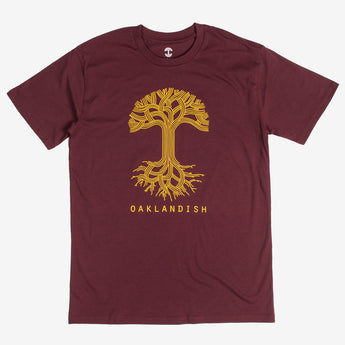 Oaklandish Classic Logo Tee - Burgundy Cotton
