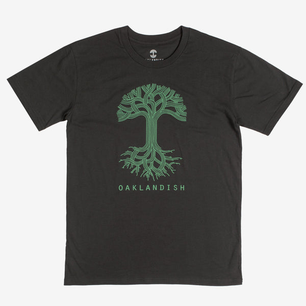 Oaklandish Classic Logo Tee - Coal Cotton