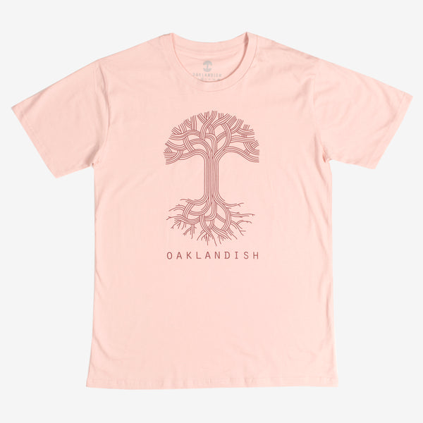 Oaklandish Classic Logo Tee - Pale Pink Cotton