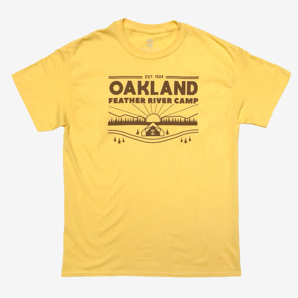 Oakland Feather River Camp Tee - Daisy Yellow Cotton