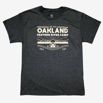 Oakland Feather River Camp Tee - Dark Heather Cotton
