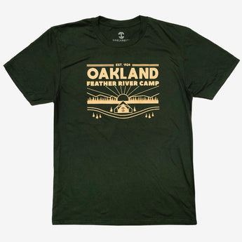 t-shirt-oakland feather river camp-oaklandish-forest green-cotton